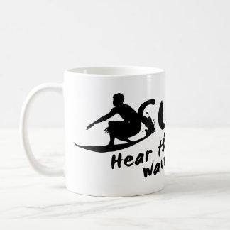 波は波の音を聞きます コーヒーマグカップ