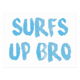 波はBroを持ち上げます ポストカード