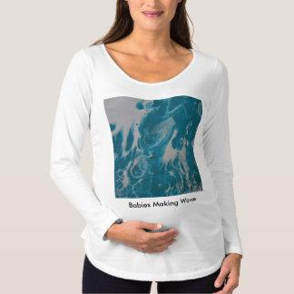 波を作っているベビー マタニティTシャツ