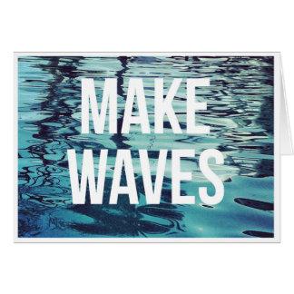 波を消しますメッセージカードを作って下さい カード
