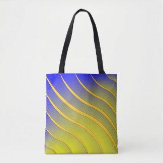 波を縞で飾ります トートバッグ