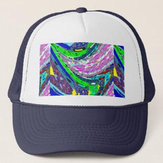 波カラフルなスペクトルパターンワイシャツエネルギー キャップ