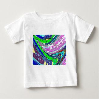 波カラフルなスペクトルパターンワイシャツエネルギー ベビーTシャツ