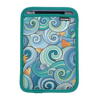 波パターンの中の魚 iPad MINIスリーブ