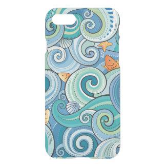 波パターンの中の魚 iPhone 7ケース