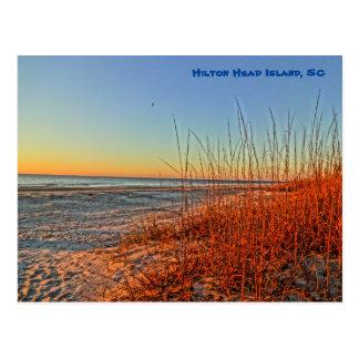 波上の日の出! Hilton Head Island、SC ポストカード