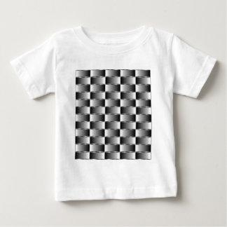 波形の金属の質 ベビーTシャツ