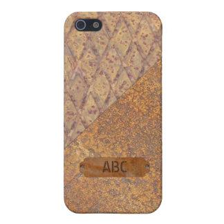 波形を付けられ、錆つかせた金属 iPhone 5 COVER
