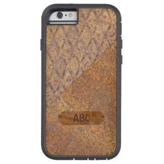 波形を付けられ、錆つかせた金属 TOUGH XTREME iPhone 6 ケース