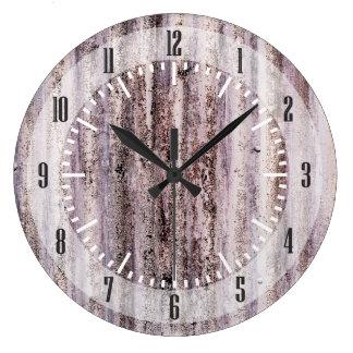 波形鉄板 ラージ壁時計