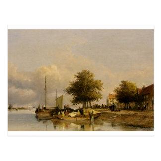 波止場の町民、Wijk Bij Duursrede ポストカード
