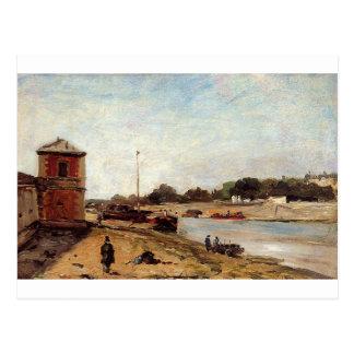 波止場de passyポール・ゴーギャンの反対のセーヌ河 ポストカード