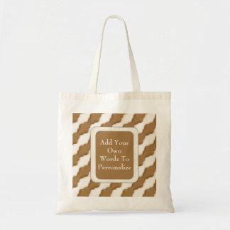 波状のさざ波-ミルクチョコレートおよび白いチョコレート トートバッグ