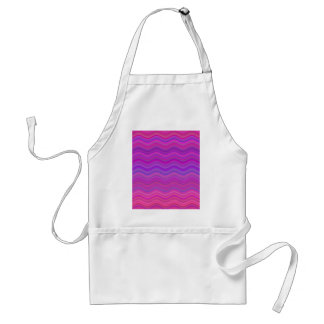 波状のピンクの紫色の抽象芸術 スタンダードエプロン