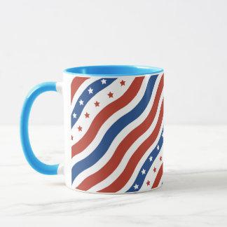 波状の星条旗 マグカップ