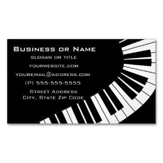波状の曲げられたピアノ鍵 マグネット名刺