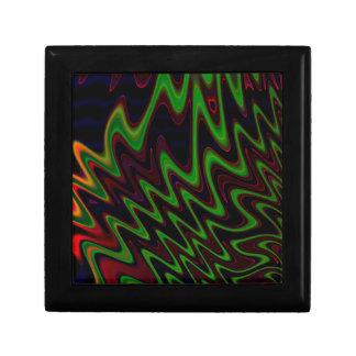 波状の緑のオレンジの抽象芸術 ギフトボックス