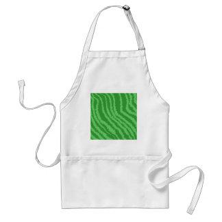 波状の緑の縞のパターン スタンダードエプロン