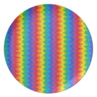 波状の虹のプレート プレート