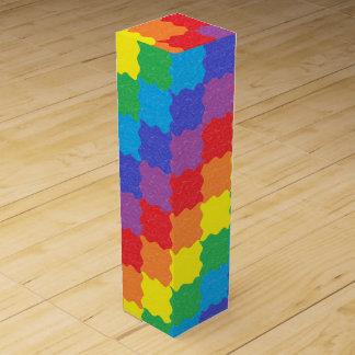 波状の虹はワイン用化粧箱を平方します ワインギフトボックス