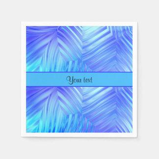 波状の青いガラス スタンダードカクテルナプキン
