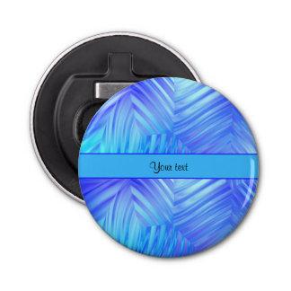波状の青いガラス 栓抜き