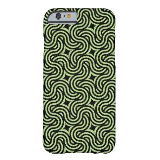 波状の黒いおよびライムパターン BARELY THERE iPhone 6 ケース