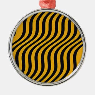 波状の《昆虫》マルハナバチのスライドは縞で飾ります シルバーカラー丸型オーナメント