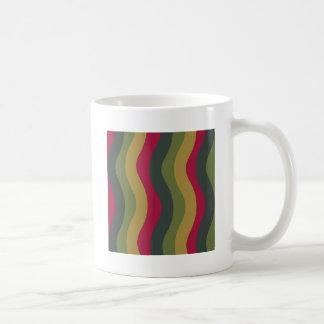波状コケむした緑の組合せは縞で飾ります コーヒーマグカップ