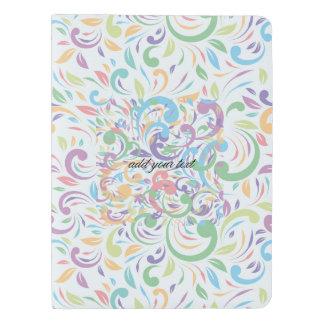 、波状、色、パターン幸せな、おもしろい花柄、モダン、t数々の エクストララージMoleskineノートブック