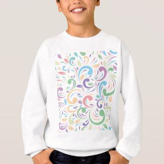 、波状、色、パターン幸せな、おもしろい花柄、モダン、t数々の スウェットシャツ