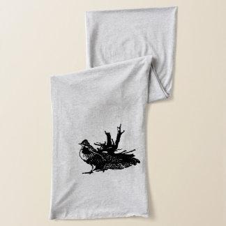 波立たせられたライチョウ スカーフ