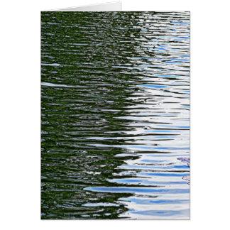 波立つ水 カード