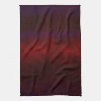 波立てられたえんじ色の抽象芸術 キッチンタオル