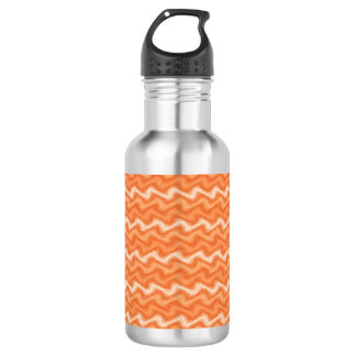 波立てられたオレンジ ウォーターボトル
