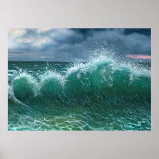 波20x28のユニコーン ポスター