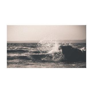 波|の海|の海|水 キャンバスプリント
