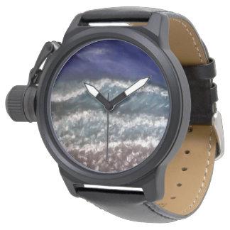 、波、ビーチ、ビーチの波、衝突の波振って下さい、振って下さい 腕時計