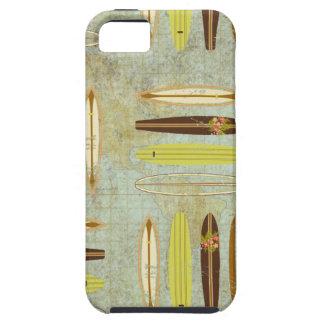 波! ヴィンテージ、動揺してなサーフボードのデザイン iPhone SE/5/5s ケース