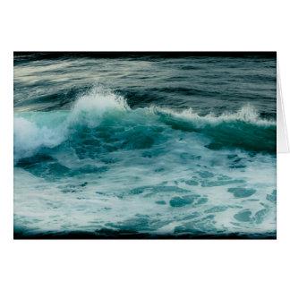波、海景のメッセージカード カード