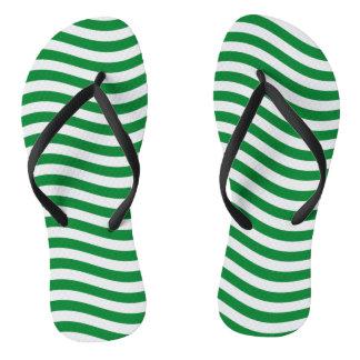 波- SPEARMINTの緑の~の~ --をつかまえて下さい ビーチサンダル