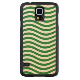 波- SPEARMINTの緑の~の~ --をつかまえて下さい CarvedメープルGalaxy S5スリムケース