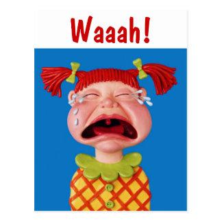 泣き叫びの女の子 ポストカード