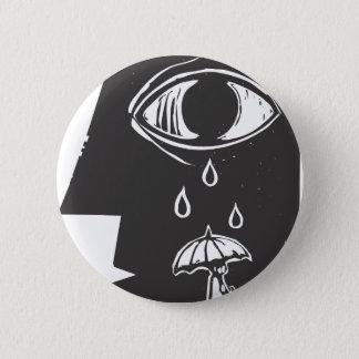 泣き叫びの目および傘 缶バッジ