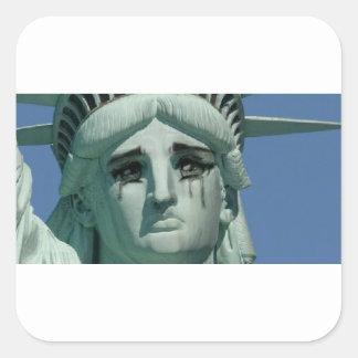 泣き叫びの自由の女神 スクエアシール
