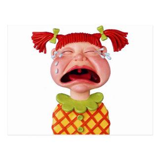 泣き叫びGirlW ポストカード