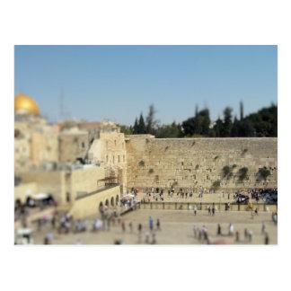 泣き叫ぶ壁-古い都市エルサレム、イスラエル共和国の郵便はがき ポストカード