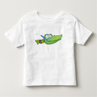 泣き虫の泣き虫のわに トドラーTシャツ