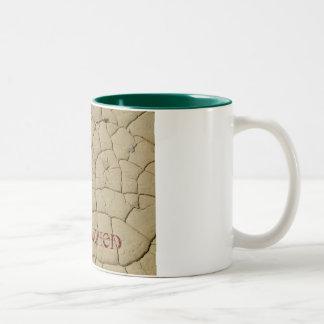 泥のひび、私は喝き切っています ツートーンマグカップ