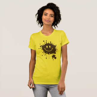 泥のスマイリーForrest Gump Tシャツ
